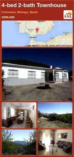 4-bed 2-bath Townhouse in Colmenar, Malaga, Spain ►€299,000 #PropertyForSaleInSpain