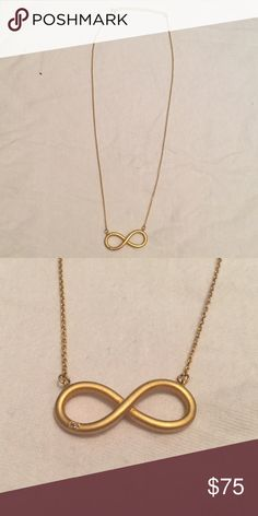 Ella Poe Diamond & Gold Plated Infinity Necklace Diamond & Gold Plated Infinity Necklace Jewelry Necklaces