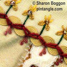 zig-zag chain stitch sample 1