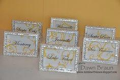 #yellow #wedding #Table Names - yellow swirl