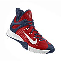 I designed the cardinal red Arizona Wildcats Nike men's basketball shoe with dark blue and white trim.