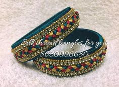 For reference only Silk Thread Bangles Design, Silk Thread Earrings, Thread Jewellery, Jewelry Making Tutorials, Jewellery Making, Rakhi Design, Beaded Necklace Patterns, Bridal Bangles, Diy Jewelry