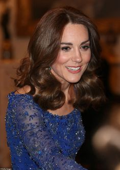 The Duchess of Cambridge took an older Jenny Packham gown out for another spin at the anniversary gala on Monday. Jenny Packham, Princess Kate, Princess Charlotte, Princess Katherine, Duchess Of Cornwall, Duchess Of Cambridge, Embellished Gown, Kate Middleton Style, Pippa Middleton