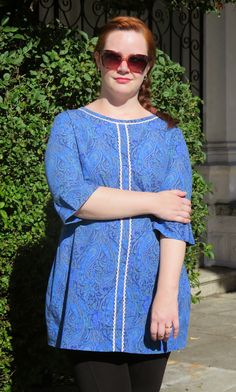 Vestido Laurel em popeline Liberty.    Veja mais em: http://www.costurakatiacostura.com/look-do-dia-vestido-no-valentines-day/