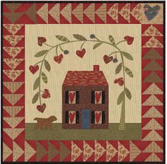 From My Heart Quilt Pattern Jan Patek Quilts - Fat Quarter Shop Heart Quilt Pattern, Heart Patterns, Quilt Patterns, Applique Patterns, Small Quilts, Mini Quilts, Primitive Quilts, Country Quilts, Miniature Quilts