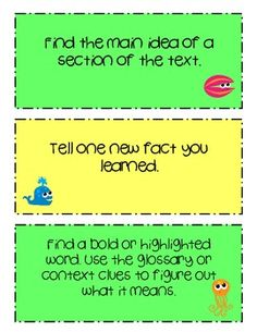 Reading Task Cards - Fiction & Nonfiction. Great for centers or guided reading