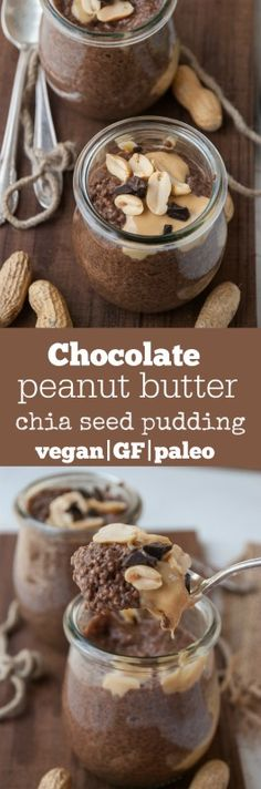 My two favorite flavors are coming together as one in this delicious mouth watering chia pudding recipe. Vegan, gluten-free and paleo friendly! Just like overnight oats, chia pudding was an acquired taste for me but once after. Healthy Dessert Recipes, Breakfast Recipes, Vegetarian Recipes, Breakfast Healthy, Vegetarian Breakfast, Breakfast Dessert, Paleo Dessert, Breakfast Ideas, Vegan Sweets