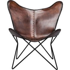Arm Chair Butterfly Brown Eco - KARE Design