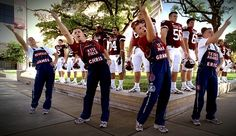 aggie overalls - yell leaders