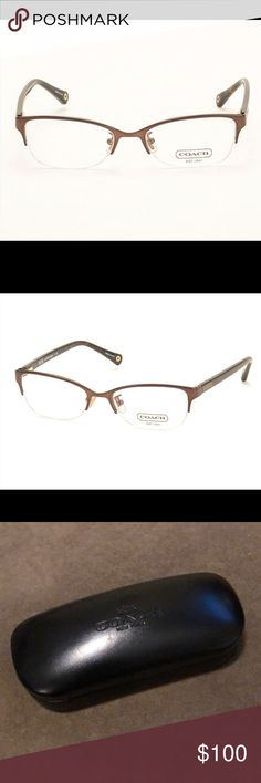 0a69ab7192 Coach Satin Brown Tortoise Leigh Glasses Frames Brand new Coach glasses  frames equipped with demo lenses