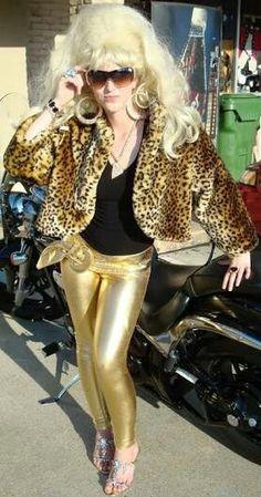 Gold retro trailer park fashion