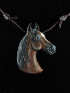 Custom Sculpted and Painted Horse Necklace Horse Necklace, Horse Portrait, Sculpting, Horses, Trending Outfits, Pendant, Unique Jewelry, Handmade Gifts, Animals