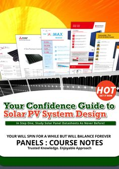 The cover for the solar panels section notes file. Enroll now or check the free lessons. The course available @ 80% discount. Limited Time.