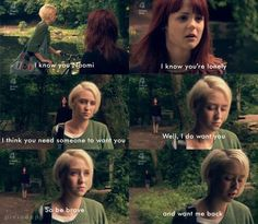 """Skins- Naomi and Emily- """"I think you need someone to want you. Well, I do want you. So be brave and want me back."""""""