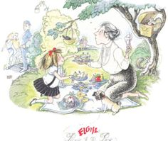 """Hilary Knight's Eloise, """"Picnic in the Park"""", limited edition print (Giraffics Gallery) Cartoon Drawings, Cool Drawings, Eloise At The Plaza, Hilary Knight, Paris Illustration, Picnic In The Park, Pug Love, Illustrations And Posters, Pugs"""