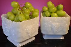 Wedding Centerpiece -  Vintage Milk Glass Candy Dishes Planters  by ClassicCabin on etsy