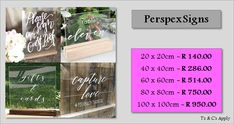 We supply any size personalized perspex signs. Facebook Sign Up, How To Apply, Make It Yourself, Signs, Shop Signs, Sign, Dishes
