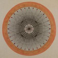 Emma Kunz - Komposition Nr.173.  #circle #circular #spherical #mandala #postmandala