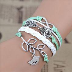 2014 multicouches. bracelets tressés, vintage. chouettecollier harry potter ailes bracelet infini, bracelet dans de sur Aliexpress.com