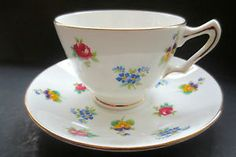 Crown Staffordshire Pansy Cup and Saucer Bone China Tea England Free Shipping | eBay