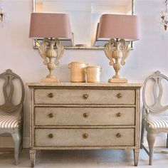 Gustavian Chest - marble top