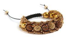 The Beading Gem's Journal - Flat Spiral Stitch and Shambala Bracelet Combo Tute ~ Seed Bead Tutorials