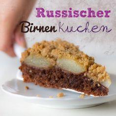 Russischer Birnenkuchen, vegan