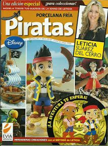 Items similar to Cold Porcelain PIRATES - PIRATAS by Leticia Suarez del Cerro (Spanish) Projects Step by Step - Porcelana fria - last in stock on Etsy Spanish Projects, Gata Marie, Project Steps, Disney, Price Sticker, Pasta Flexible, Air Dry Clay, Diy Clay, Polymer Clay Art