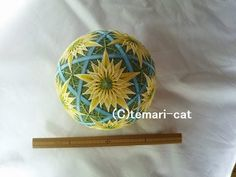 "Temari lecture 142. How to make a Temari ""Dandelion. """