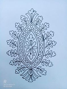 kb Border Embroidery Designs, Embroidery Stitches, Elegant Saree, Mehndi, Damask, Bookmarks, Stencils, Flower, Drawings