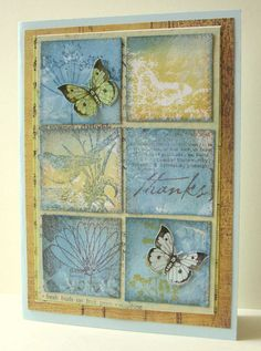 This is a mix of many stamps using distress inks and white ink creating shadows, which are hardly visible once it drys.