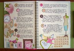 Great idea for the weekly journaling