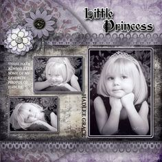 Little Princess, layout by scrap happy