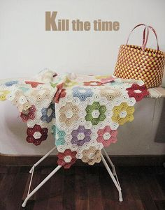 crochet hexagon blanket (blog has been removed - photo for inspiration)