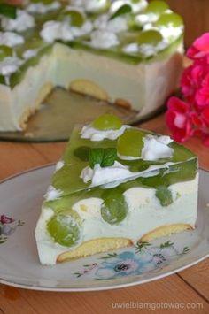 Ciasto z winogronami bez pieczenia Polish Recipes, Polish Food, Sweets Cake, Food Cakes, Cheesecakes, Ale, Cake Recipes, Recipies, Food And Drink