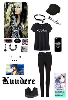 """""""Kuudere"""" by kristina-shadowheart ❤ liked on Polyvore featuring Paige Denim, Converse, Lime Crime, Target, Billabong and Casetify"""
