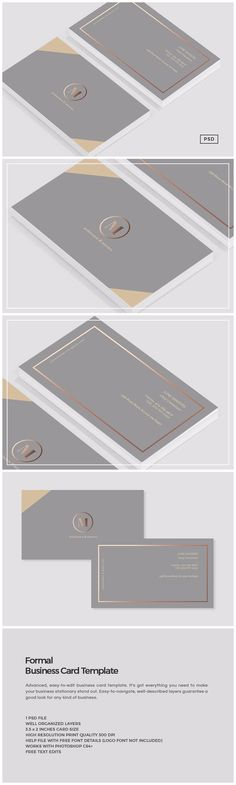 Formal Business Card Template https://creativemarket.com/MeeraG/837522-Formal-Business-Card-Template #design #art #graphicdesign