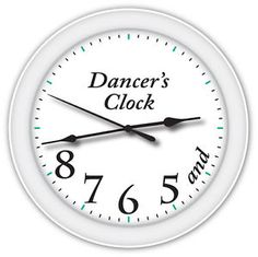 Dancers Clock | Dancers-Time-Clock-Ballet-Ballerina-Dance-Studio-GIRLS-BEDROOM-DECOR ...