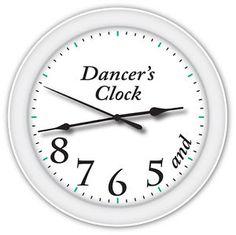 Dancers Clock | Dancers-Time-Clock-Ballet-Ballerina-Dance-Studio-GIRLS-BEDROOM-DECOR ...