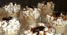 Przepyszny deserek podany w pucharkach inspirowany słynnym tortem bezowym Dacquoise (dakłas). Do przygotowania w prosty sposób w kilka chwil... Pudding, Fit, Desserts, Flan, Postres, Puddings, Deserts, Dessert, Food Deserts