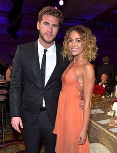 Miley Cyrus and Liam Hemsworth #examinercom