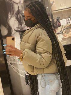 Faux Locs Hairstyles, Baddie Hairstyles, Black Girls Hairstyles, Cute Hairstyles, Protective Hairstyles, Protective Styles, Pretty Black Girls, Beautiful Black Girl, Black Girl Braids