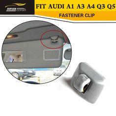 1 adet iç güneşlik kanca klip braketi fit için audi a1 a3 a4 q3 q5