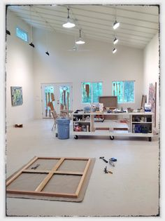 Carl Goldhagen's Painting Studio.   (I visited it this summer and he just told me I could pin it!)