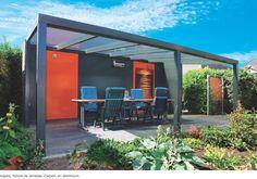 pergola aluminium design pour cuisine extérieure
