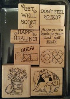 Stampin Up HAPPY HEALING Rubber Stamp PENGUIN Band Aid Nurse GET WELL Sayings #StampinUp #GetWellSoonPenguinSayingsBandAidNurse