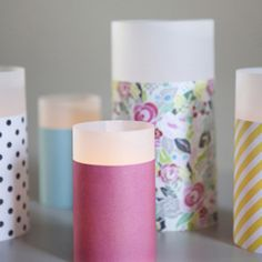 Make these super cute paper and vellum lanterns in a snap with this step by step tutorial. Doesn't the vellum make it look more candle like?