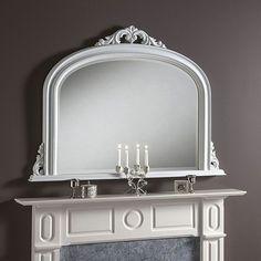 White Overmantle Mirror - 122 x 91cm