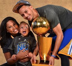 Stephen and Ayesha Curry with their daughter, Riley. I LOVE this family!