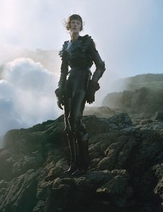 W Magazine Dame of Thrones Photo by Tim Walker, styled by Jacob K; W Magazine September Tim Walker, Armadura Medieval, Joan Of Arc, St Joan, Leather Armor, Medieval Fashion, W Magazine, Musa, Medieval Fantasy